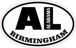 Oval AL Birmingham Alabama Sticker