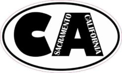Oval CA Sacramento California Sticker