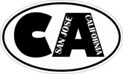 Oval CA San Jose California Sticker