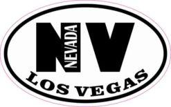 Oval NV Los Vegas Nevada Sticker
