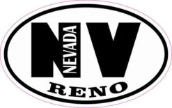 Oval NV Reno Nevada Sticker