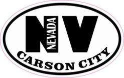 Oval NV Carson City Nevada Sticker