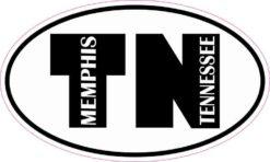 Oval TN Memphis Tennessee Sticker