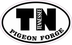 Oval TN Pigeon Forge Tennessee Sticker