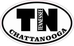 Oval TN Chattanooga Tennessee Sticker