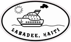 Cruise Ship Oval Labadee Haiti Sticker