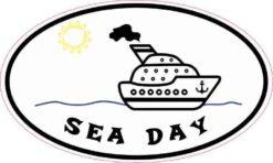 Oval Sea Day Sticker