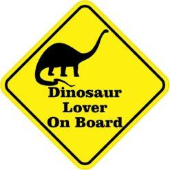 Dinosaur Lover On Board Magnet