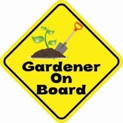 Gardener On Board Magnet