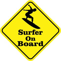 Silhouette Surfer On Board Sticker