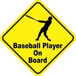 Baseball Player On Board Sticker