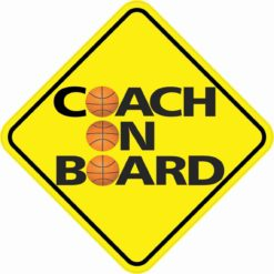 Basketball Coach On Board Sticker