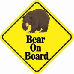 Bear On Board Sticker