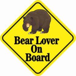 Bear Lover On Board Sticker