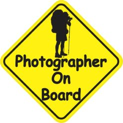 Photographer On Board Magnet