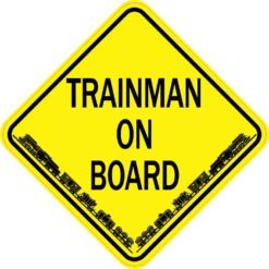 Trainman On Board Sticker