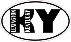 Oval KY Lexington Kentucky Sticker