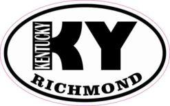 Oval KY Richmond Kentucky Sticker