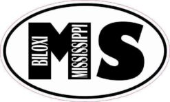 Oval MS Biloxi Mississippi Sticker