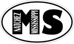 Oval MS Natchez Mississippi Sticker