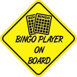 Bingo Player On Board Sticker