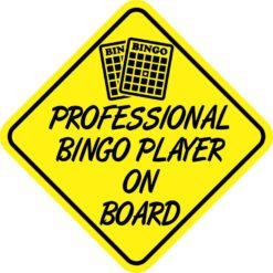 Professional Bingo Player On Board Magnet