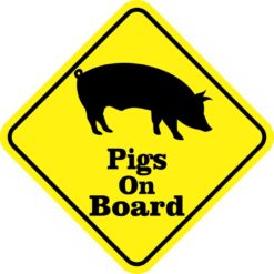 Pigs On Board Magnet