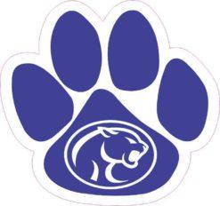 Blue Cougar Paw Sticker