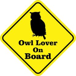 Owl Lover On Board Magnet