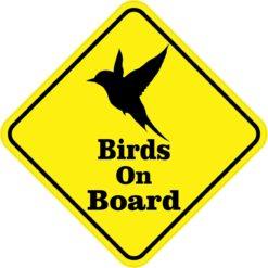 Silhouette Birds On Board Magnet