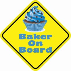 Baker On Board Magnet