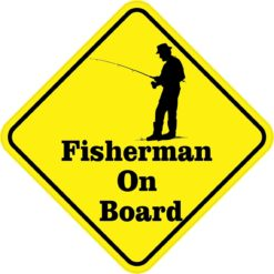 Fisherman On Board Sticker