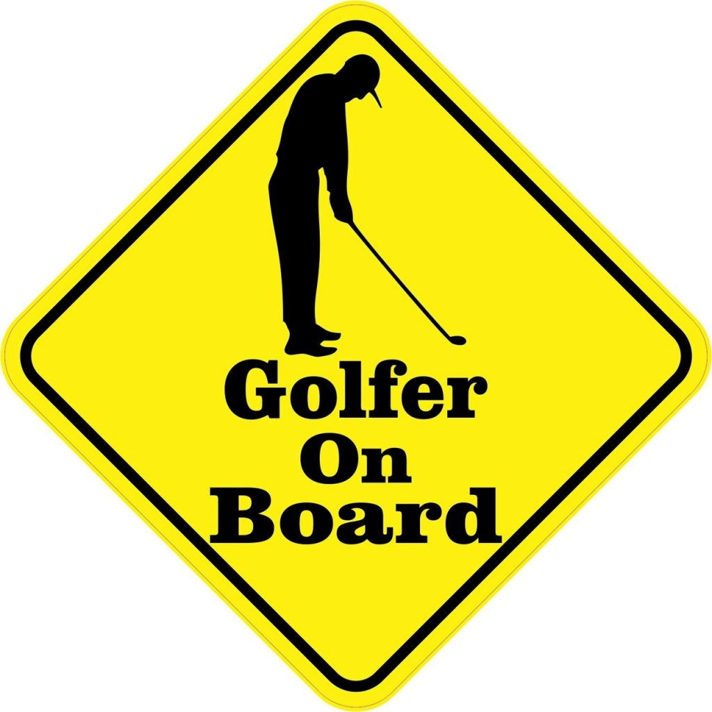 Golfer On Board Magnet