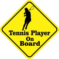 Female Tennis Player On Board Magnet