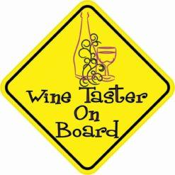 Wine Taster On Board Sticker