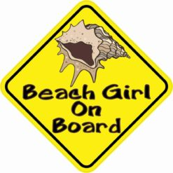 Beach Girl On Board Sticker
