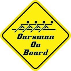 Oarsman On Board Magnet