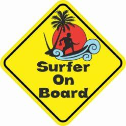 Surfer On Board Magnet