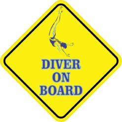 Aquatic Diver On Board Sticker