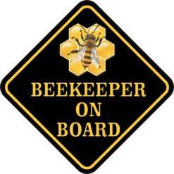Beekeeper on Board Sticker