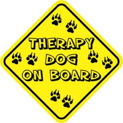 Therapy Dog On Board Sticker