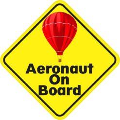 Red Aeronaut On Board Sticker