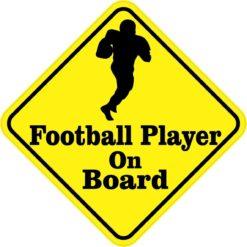Football Player On Board Sticker