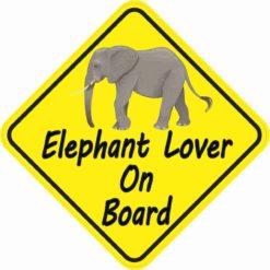 Elephant Lover On Board Magnet