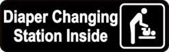 Men's Restroom Diaper Changing Station Inside Sticker