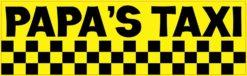 Papa's Taxi Bumper Magnet