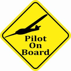 Small Plane Pilot On Board Magnet