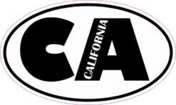 Oval CA California Sticker