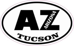 Oval AZ Tucson Arizona Sticker