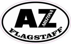Oval AZ Flagstaff Arizona Sticker